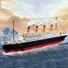 (41.31$)  Watch here - http://ai892.worlditems.win/all/product.php?id=32762326944 - Model building kits compatible with  city Titanic RMS ship 3D blocks Educational model building toys hobbies for children