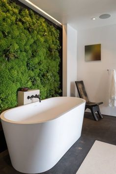 sit back and soak with a living wall
