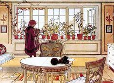 Flower Window, by Carl Larsson (Alicia Paulson's influences.)