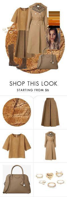 """""""Fancy brown"""" by yeenie ❤ liked on Polyvore featuring Be Home, LUISA BECCARIA, Uniqlo, Gucci, Charlotte Russe, contest, hermes and brownset"""
