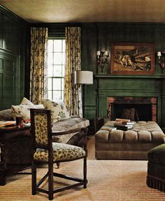 Barry Dixon's Virginia Farmhouse Living Room, Southern Accents March April 2009