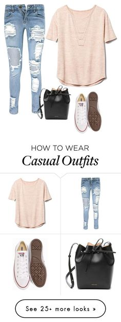 """casual"" by kalexia71 on Polyvore featuring Boohoo, Gap, Converse, ERTH and Mansur Gavriel"