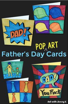 Dad's love getting hand made cards from their children. Let kids color these cards for Father's Day and write dad a sweet message inside. Art activities kids will love and so will dad! by jean Diy Father's Day Gifts Easy, Great Father's Day Gifts, Gifts For Kids, Fathers Day Art, Fathers Day Crafts, Father's Day Activities, Dad Day, Camping Crafts, Holidays With Kids