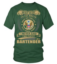Bartender (Round neck T-Shirt Unisex - Green Bottle) #firefighter #animals #goat bartender recipes happy hour, bartender tattoo ink, bartender tattoo lime juice, back to school, aesthetic wallpaper, y2k fashion