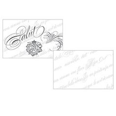 """Parisian Love Letter"" Large Ticket from Weddingstar Inc."