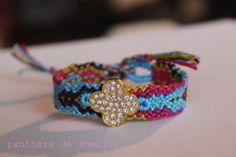 Friendship bracelet CLOVER by lapanthere on Etsy, €35.00