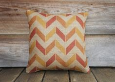 Chevron Pillow Cover Decorative Throw Pillow by TheWatsonShop. , via Etsy.