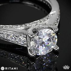 Ritani Modern Graduated Diamond Engagement Ring | 2075