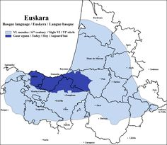 Extension of the Basque language in the 6th century and today