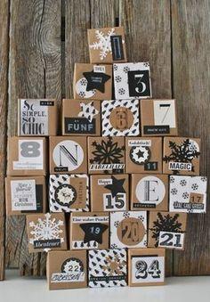 adventskalender selber basteln geschenkideen päckchen adventskalender füllen