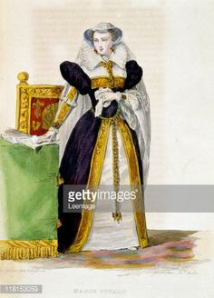 Fine art : Queen Mary Stuart. Queen Mary Stuart 1542-1587, Mary I of Scotland. Engraving in Le Plutarque Francais, by Mennechet, in 1836.