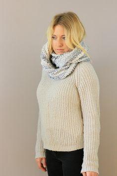marble chunky circle scarf miyuki crochet infinity
