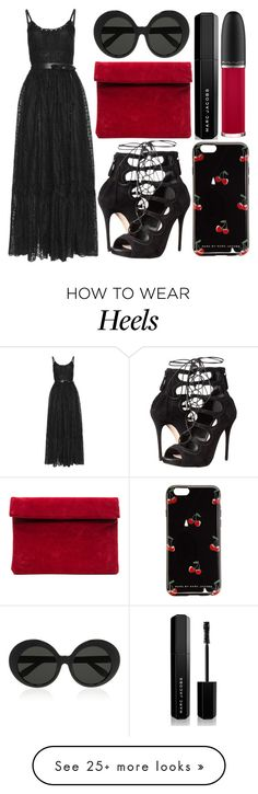 """""""street style"""" by sisaez on Polyvore featuring Valentino, Alexander McQueen, Linda Farrow, Marc by Marc Jacobs, Marc Jacobs and MAC Cosmetics"""