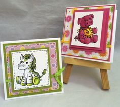 Just4FunCrafts and DoveArt Studios: Little Minis...So Adorable!  3 x 3 cards
