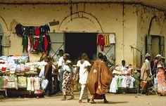 A busy corner in Bamako, Mali