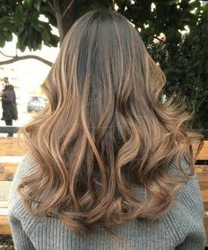 dark brown hair with light brown ombre