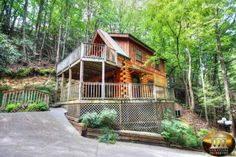 Honeymooners Dream - Smoky Mountain Cabins for Rent in Gatlinburg and Pigeon Forge TN - Sleeps 4 and Pet Friendly $125 a night in the summer