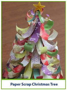 Dig out those beloved paper scraps, grab the Glue Dots, and get the kids; we're making a paper Christmas tree decoration!