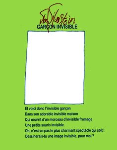The Shel Silverstein (in French) postcard — The Moving Sidewalk joins forces with oad-LOOKING to create an original 'TRAVEL WITH YOUR ART' collection — Shel Silverstein fans can now smugly post from France! Paris Video, Original Travel, Shel Silverstein, Custom Design, Sidewalk, Fans, French, Writing, The Originals