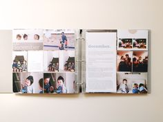 An overview of doing individual Project Life albums for each child - by Pink Ronnie