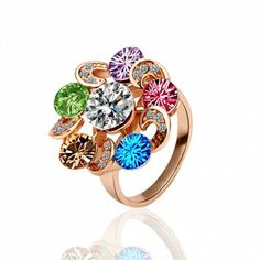 AEKK Gold colored ring'  Adjustable Ring