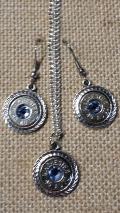 Rope Circle Bullet and Earring Necklace Set for only $25.00 available in your choice of Crystal Colors at www.bangblingbulletjewelry.com