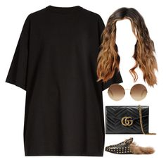 """""""23.04.17"""" by jamilah-rochon ❤ liked on Polyvore featuring Vetements, Gucci and Victoria Beckham"""