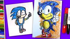 Рисуем СОНИКА / How To Draw Sonic The Hedgehog / Уроки с Тамерланом