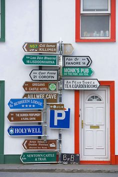 Directional signs, Western Ireland