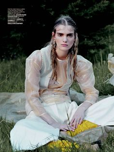"Braids + Half up The Exotic Journey"" by Bharat Sikka for Marie Claire Italia May 2015"