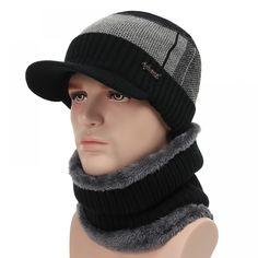 f9c487d2a05 Thick Warm Winter Hats Skullies Beanies Hat For Men Women Wool Scarf Caps  Balaclava Mask Knitted Hat Gorras Bonnet • DREAM EMARKET
