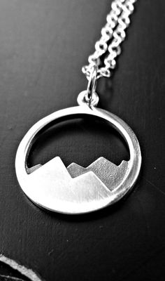 Sterling Silver Mountain Necklace by yourcharmedlife on Etsy