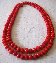 SALE  Long Necklace. Versatile. Handmade Red by AussieJulesOnline, $90.00 Originally $150