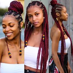 Top 60 All the Rage Looks with Long Box Braids - Hairstyles Trends Box Braids Hairstyles, Black Girl Braids, Braided Hairstyles For Black Women, Braids For Black Hair, Girls Braids, Protective Hairstyles, Layered Hairstyles, Hair Updo, African Hairstyles