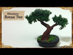 Miniature Bonsai Tree - Polymer Clay Tutorial - YouTube