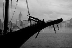 Junk boat and Hong Kong