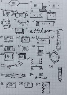 Bullet Journal Banner Ideas