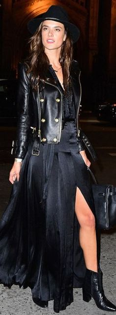 Alessandra Ambrosio: Jacket  – Balmain  Purse – Hermes  Dress – L'Agence