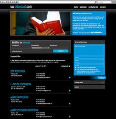 Klant: Uw Advocaat. Gerealiseerd door Webbees: webdesign en technische realisatie. www.uw-advocaat.com