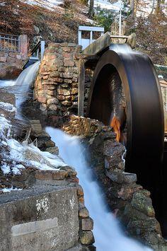 Silky Water Wheel, Hotel Lamm, Heimbuchenthal, Germany