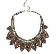 #cute #fasholista #necklace #boho #gypsy #neautral #rainbow