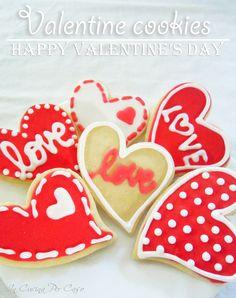 biscotti decorati per san valentino - valentine's day cookies