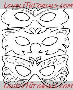 """трафарет """"венецианская маска"""" -venetian mask template - Мастер-классы по украшению тортов Cake Decorating Tutorials (How To's) Tortas Paso a Paso"""