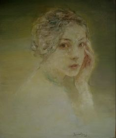 Original Oil Painting of Female Portrait by Asian Chinese Artist Hu Jundi - Serendipity by Hallmark Fine Art Gallery La Jolla, via Flickr
