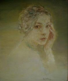 Original Oil Painting of Female Portrait by Asian Chinese Artist Hu Jundi - Serendipity by Hallmark Fine Art Gallery La Jolla, via Flickr