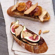 Toasts de Foie Gras à la confiture..