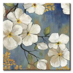 Art Print: En Flor Wall Art by Asia Jensen by Asia Jensen : Framed Canvas Prints, Canvas Frame, Canvas Art, Art Prints, Oil Painting Flowers, Diy Painting, Beautiful Paintings Of Flowers, Flower Painting Canvas, Acrylic Flowers