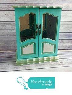 1 Aqua Jewelry Box Up Cycled Eco Friendly from Crafty McDaniel http://www.amazon.com/dp/B015HRYZ6U/ref=hnd_sw_r_pi_dp_hqtgwb169MRZ6 #handmadeatamazon