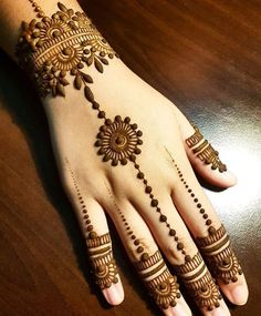 Mehndi henna designs are always searchable by Pakistani women and girls. Women girls and also kids apply henna on their hands feet and also on neck to look more gorgeous and traditional. Henna Hand Designs, Latest Henna Designs, Mehndi Designs For Girls, Mehndi Designs For Beginners, Mehndi Designs 2018, Modern Mehndi Designs, Mehndi Designs For Fingers, Mehndi Design Pictures, Henna Tattoo Designs