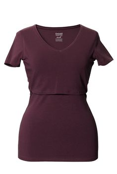 Boob Nursingwear V Neck Short Sleeve Nursing Top   Maternity Clothes BEST selection of Maternity clothes anywhere!  FREE Gift with purchase! see www.duematernity.com for details